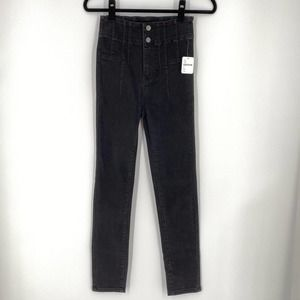 NEW Free People We the Free Black High Waist Jeans